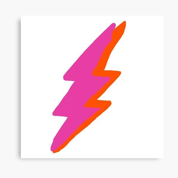 pink and orange lightning bolt Canvas Print