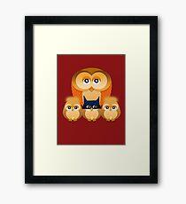 THE OWL FAMILY Framed Print