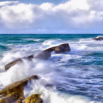sea storm by FrinK