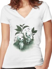 Natural History - Forest Spirit studies Women's Fitted V-Neck T-Shirt
