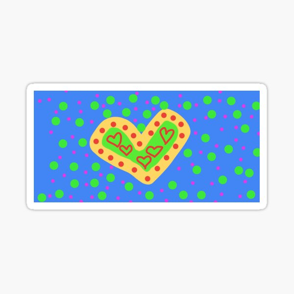 Hearts and dots Sticker
