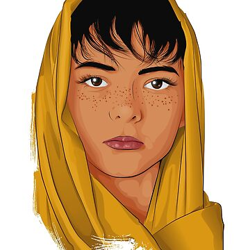 The Girl with the Yellow Scarf- Mona Lala by boldpointdesign