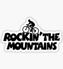 Rockin the Mountains Biking Sticker