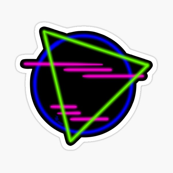80s Neon Shapes Glossy Sticker