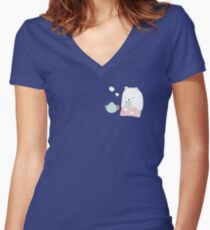 Bear Women's Fitted V-Neck T-Shirt