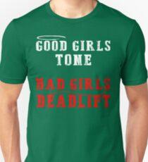 Bad Girls deadlift workout T-Shirt