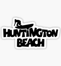 Huntington Beach Surfing Sticker