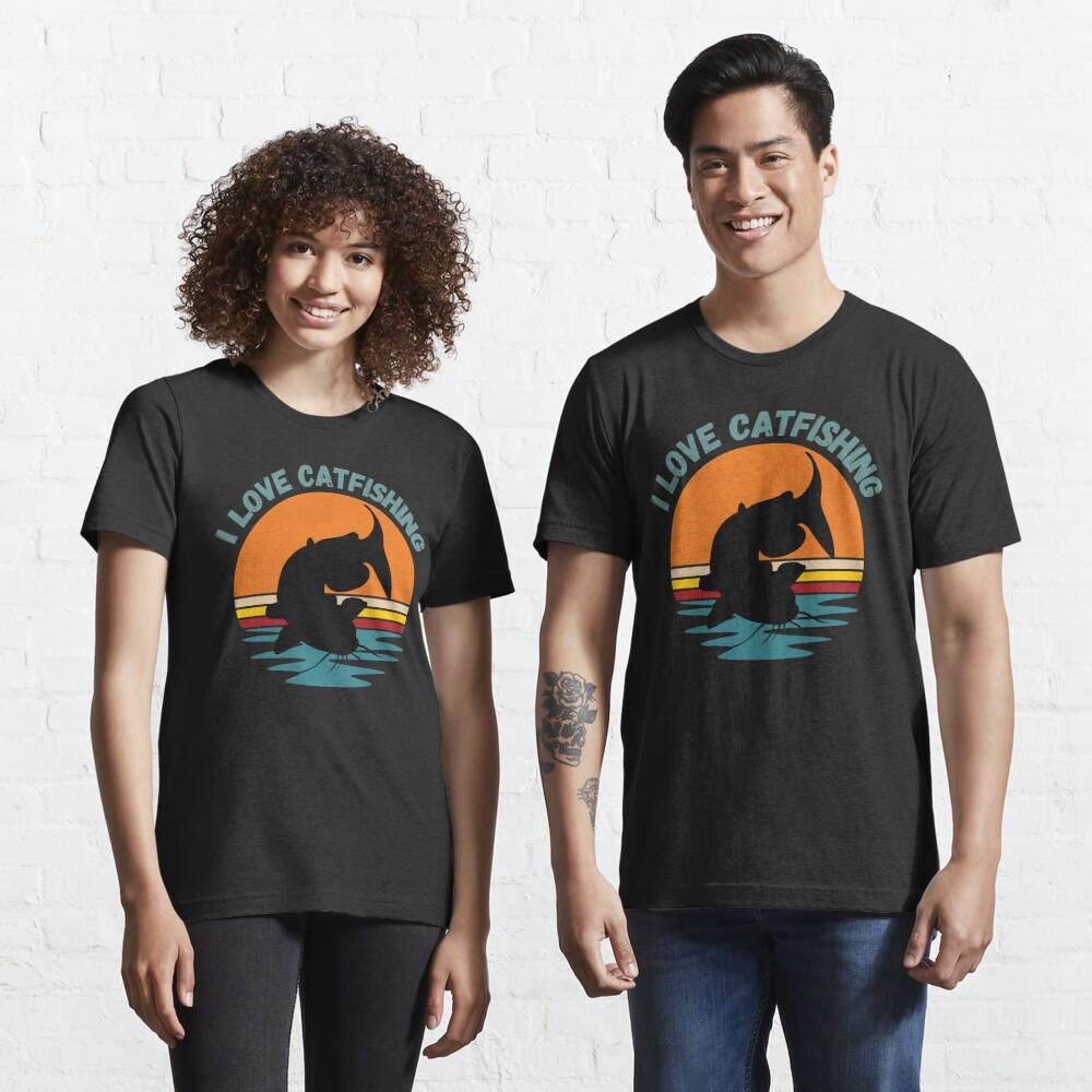 I love catfishing, catfish lover fishing gift Essential T-Shirt