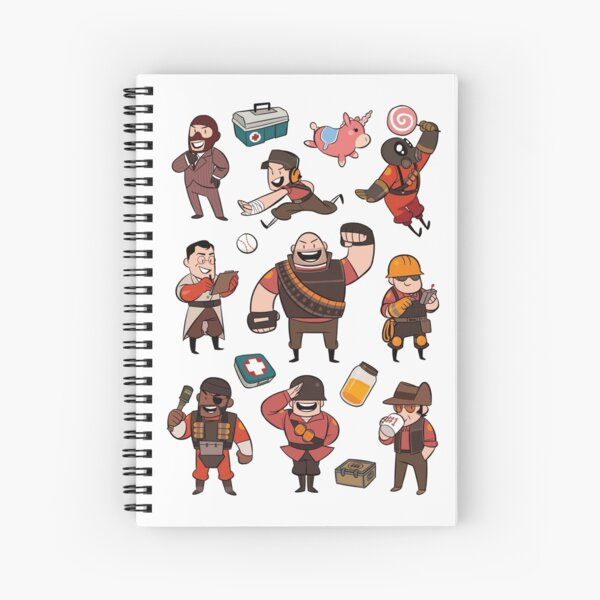 Team Fortress 2 / RED All Class Spiral Notebook