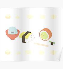 Sushi kawaii Poster