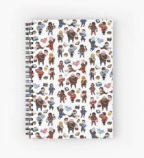 Team Fortress 2 / RED,BLU All Class(pattern) Spiral Notebook