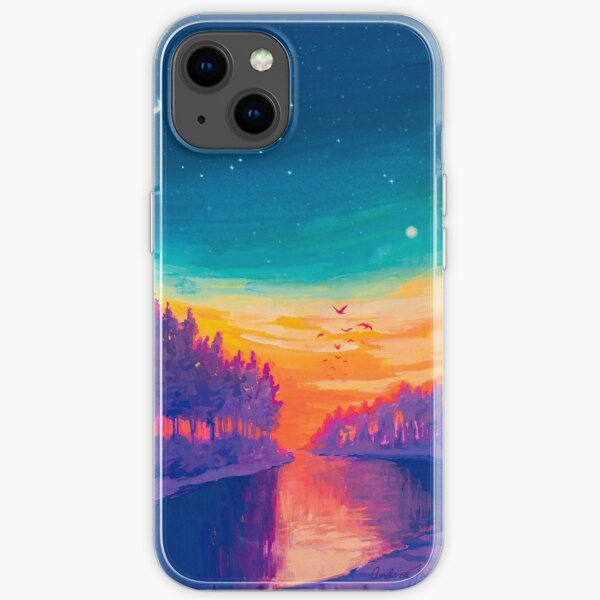 Zodiac Signs as Landscape Paintings- Aquarius / Great Conjuntion iPhone Soft Case