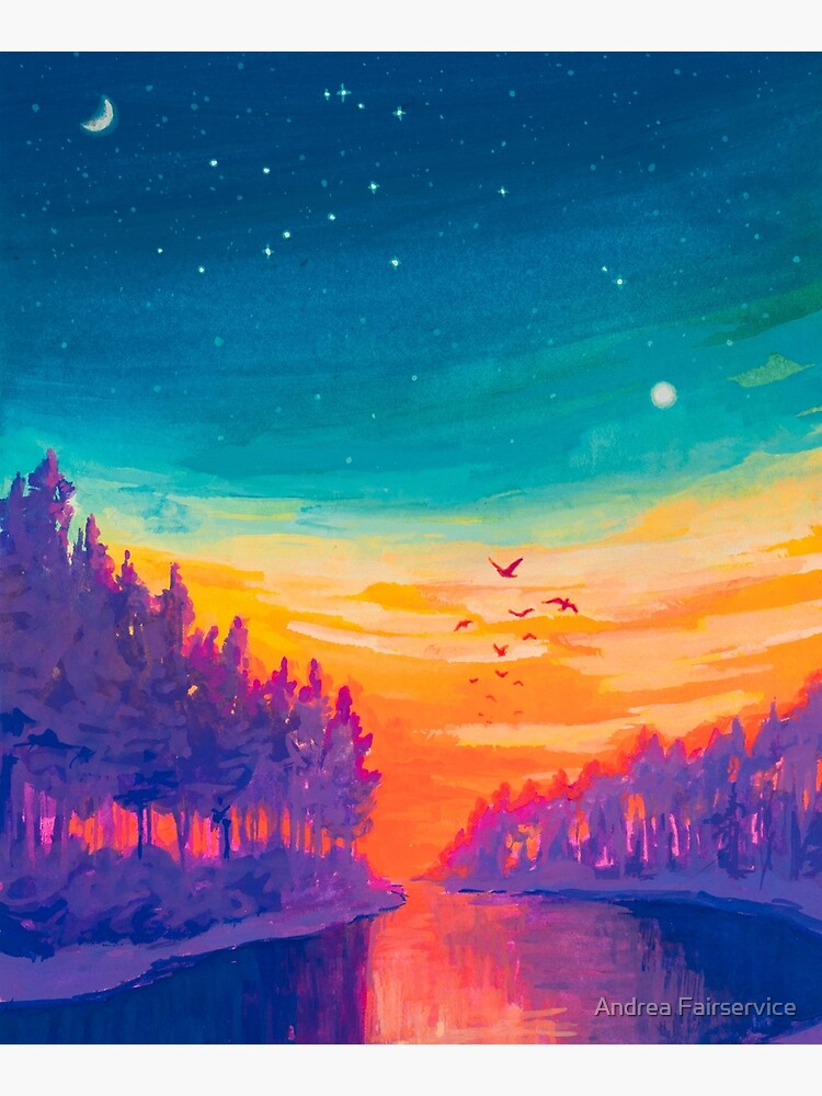 Zodiac Signs as Landscape Paintings- Aquarius / Great Conjuntion by Afair937