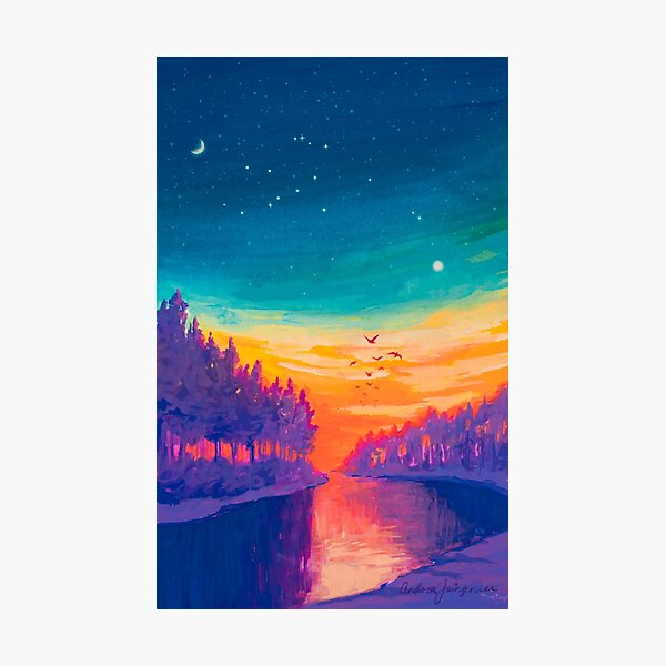 Zodiac Signs as Landscape Paintings- Aquarius / Great Conjuntion Photographic Print