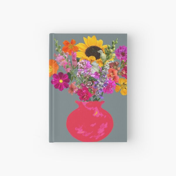 Bright pink vase still life on slate by Tea with Xanthe Hardcover Journal