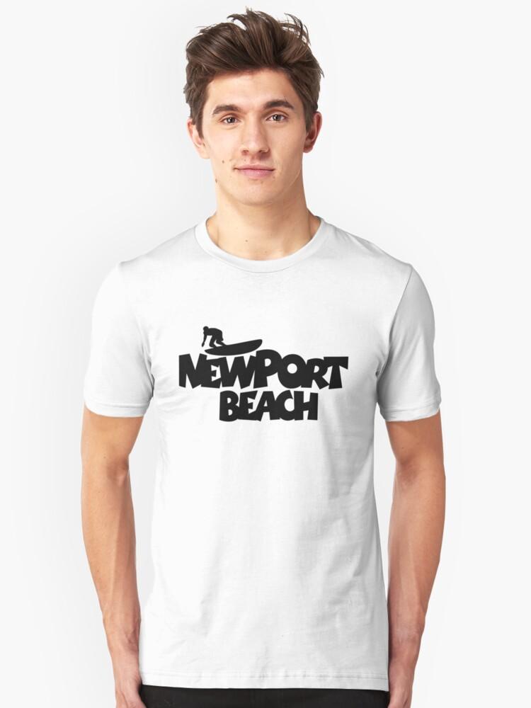 Newport Beach Surfing Unisex T-Shirt Front