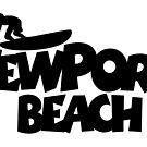 Newport Beach Surfing by theshirtshops