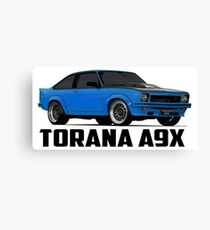 Holden Torana - A9X Hatchback - Blue Canvas Print