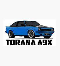 Holden Torana - A9X Hatchback - Blue Photographic Print