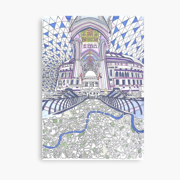 London Composition 4 Canvas Print