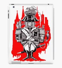Imperial Clock surreal pen ink black white and red drawing iPad Case/Skin