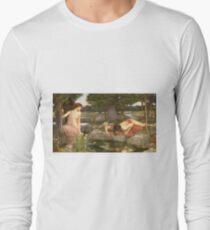John William Waterhouse - Echo and Narcissus 1903 . Love , Romance T-Shirt