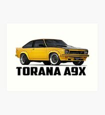 Holden Torana - A9X Hatchback - Yellow Art Print