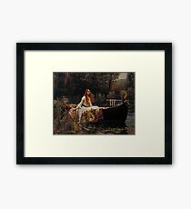 John William Waterhouse - The Lady of Shalott 1888 . Woman Portrait  Framed Print