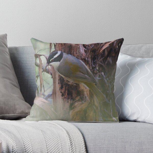 HONEYEATER ~ Strong-billed Honeyeater YsnndNu2 by David Irwin 221220 Throw Pillow