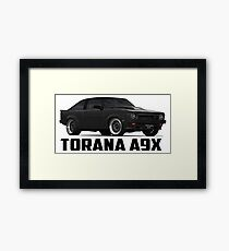 Holden Torana - A9X Hatchback - Black Framed Print