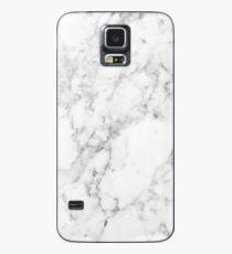 Weisser Marmor Hülle & Klebefolie für Samsung Galaxy