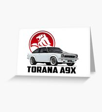 Holden Torana - A9X Hatchback - White 2 Greeting Card