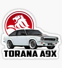 Holden Torana - A9X Hatchback - White 2 Sticker
