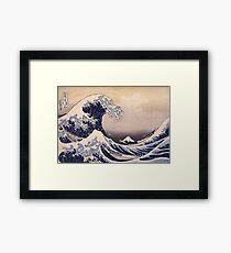 Katsushika Hokusai - The Great Wave Off the Coast of Kanagawa 19th century . Japanese Seascape Framed Print