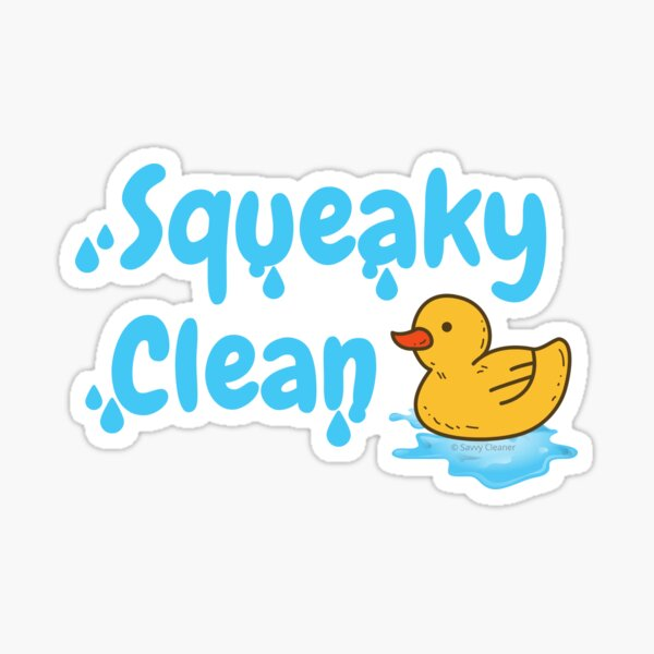 Squeaky Clean Rubber Duckie Cleaning Housekeeping Cleanup Sticker
