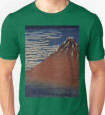 Katsushika Hokusai - Japanese Landscape . Rock Unisex T-Shirt