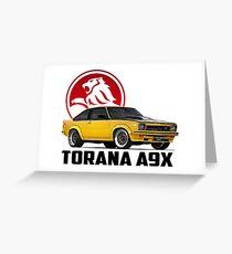 Holden Torana - A9X Hatchback - Yellow 2 Greeting Card