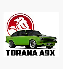 Holden Torana - A9X Hatchback -  Green 2 Photographic Print