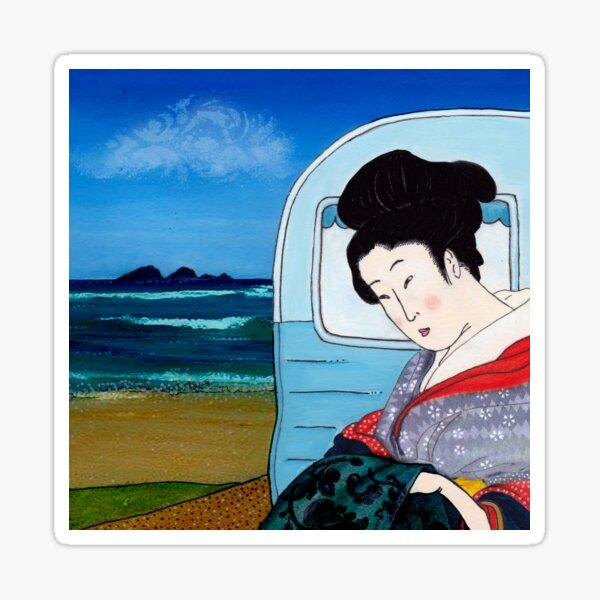 The Hokusai Family Holiday, Day 5 Sticker