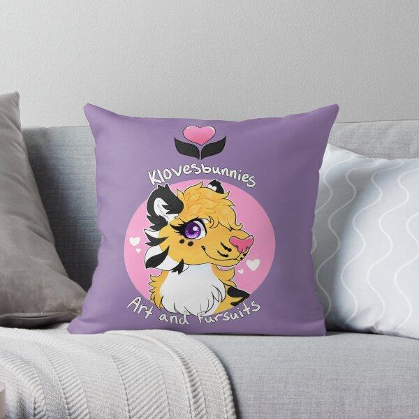 Klovesbunnies Art and Fursuits - Logo Throw Pillow