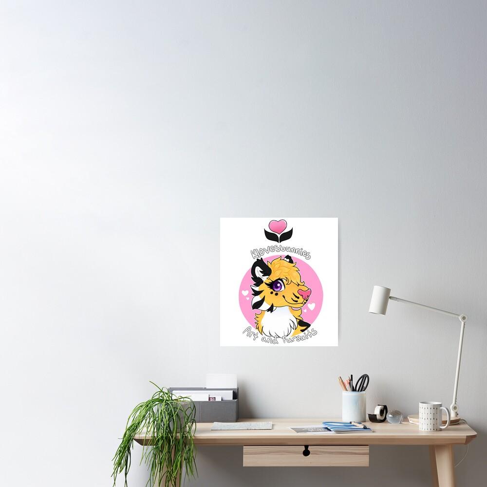 Klovesbunnies Art and Fursuits - Logo Poster