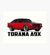 Holden Torana - A9X Hatchback - Red Art Print