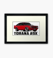 Holden Torana - A9X Hatchback - Red Framed Print