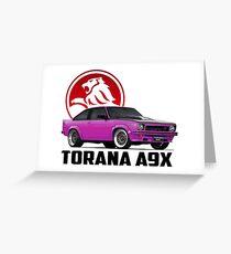 Holden Torana - A9X Hatchback - Pink 2 Greeting Card
