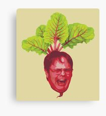 The Office: Dwight Schrute Beet Canvas Print