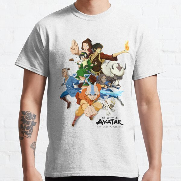 Avatar El Último Maestro Del Aire El Gaang Camiseta clásica