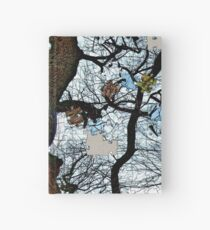 Old tree puzzle Hardcover Journal