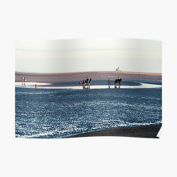 Horses on Cleethorpes Beach Poster