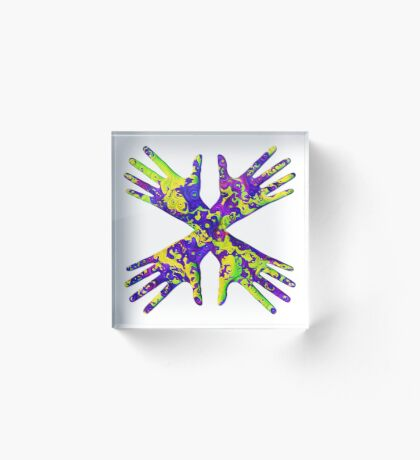 #DeepDream Painter's gloves 5x5K v1456325888 Acrylic Block