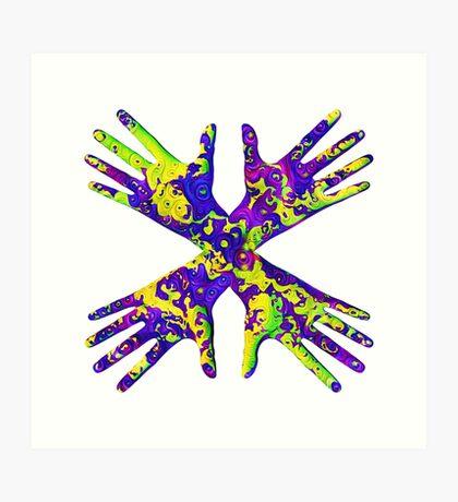 #DeepDream Painter's gloves 5x5K v1456325888 Art Print